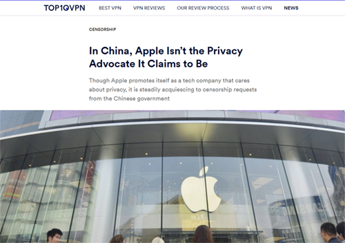 In China, Apple Isn't the Privacy Advocate It Claims to Be