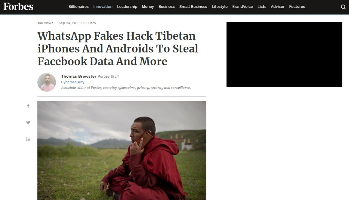 WhatsApp Fakes Hack Tibetan iPhones And Androids To Steal Facebook Data And More
